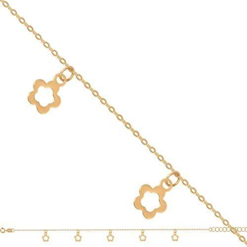 Złota bransoletka damska łańcuszkowa 49638