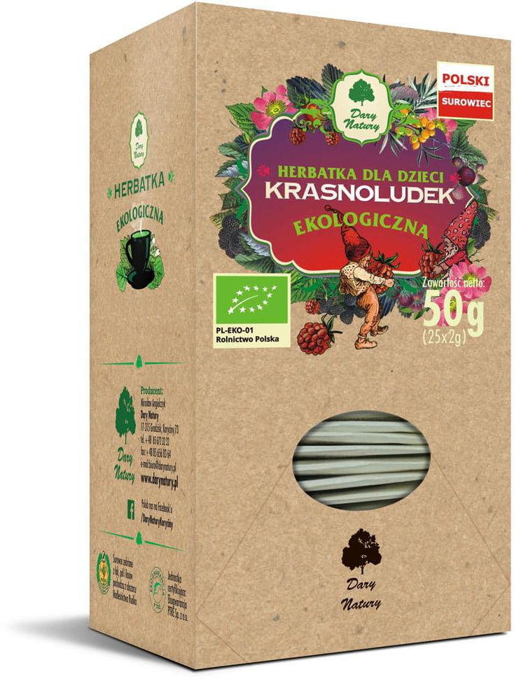 Dary Natury Herbatka Dla Dzieci Krasnoludek EKO 25x2g Ekspresowa
