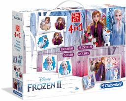 Clementoni 18059 Edukit 4 w 1-Disney Frozen II Memory Domino-Cube Puzzle dla dzieci od 3 lat, wielokolorowa, 0