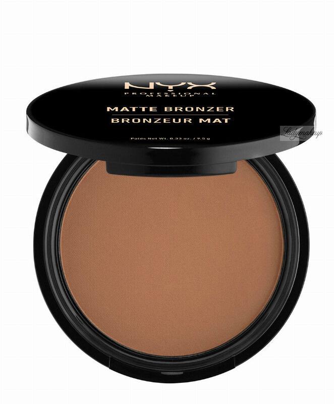 NYX Professional Makeup - MATTE BRONZER POWDER - Matowy puder brązujący - 05 - DEEP TAN