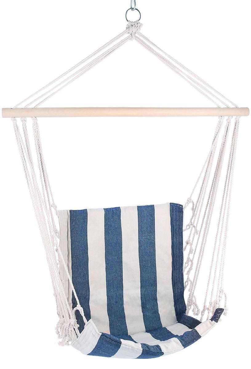 Krzesło brazylijskie - hamak Nils Camp NC3101 - biało-niebieskie (15-03-080)