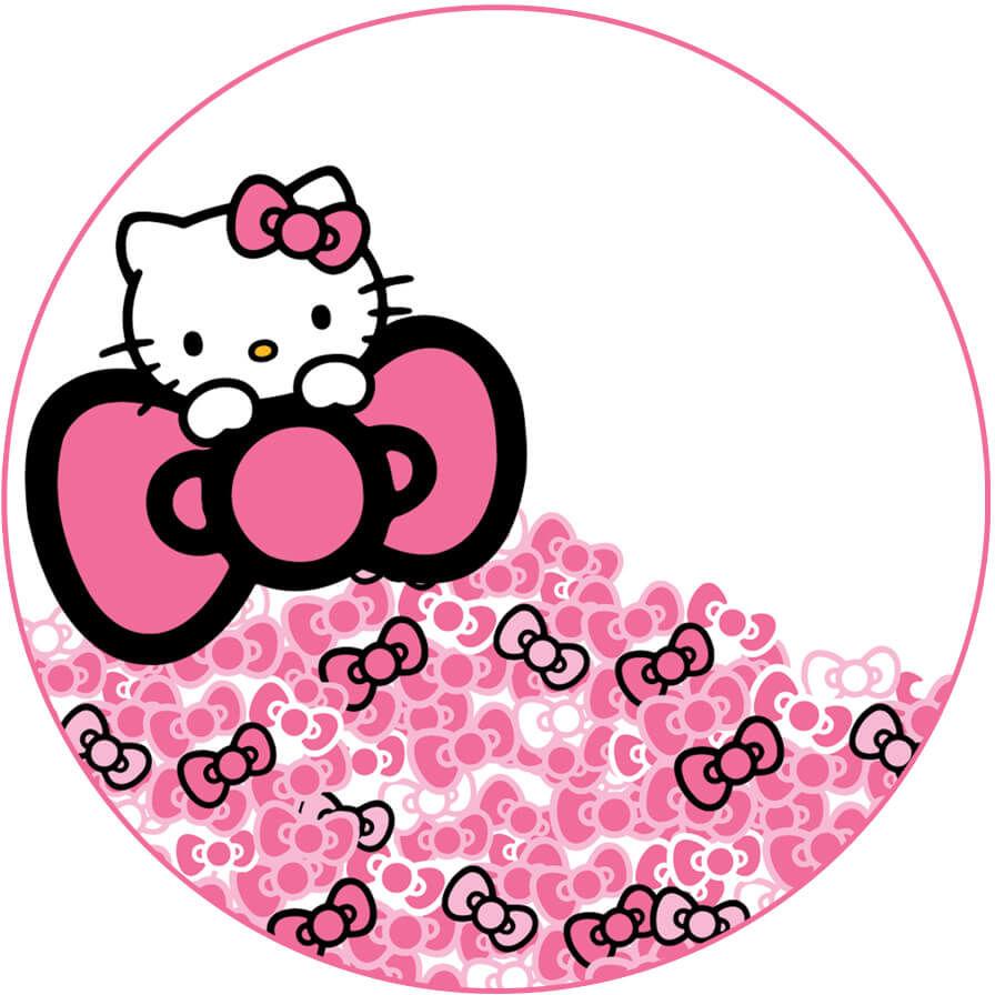 Dekoracyjny opłatek tortowy Hello Kitty - 20 cm