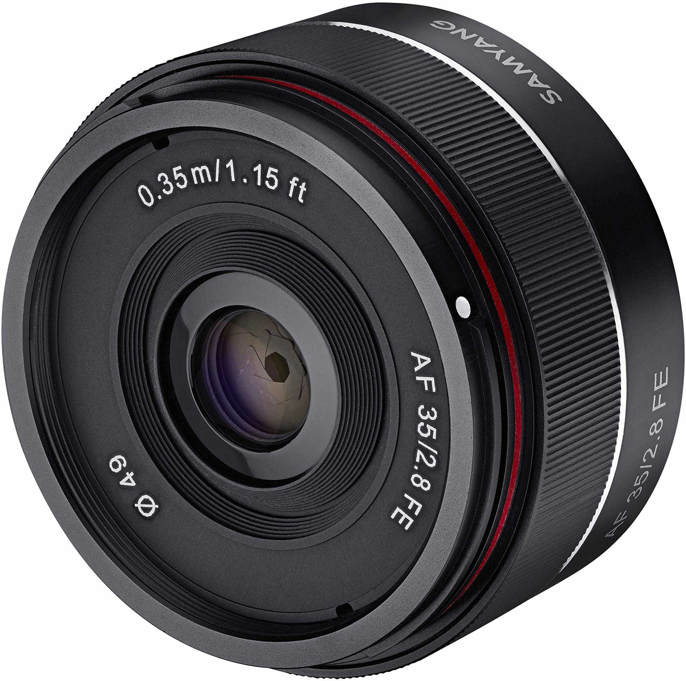 Samyang 8022 AF 35 mm f2.8 obiektyw aparatu do Sony FE - czarny