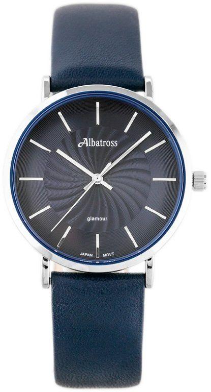 ZEGAREK DAMSKI ALBATROSS ABAC11 (za540c) navy blue / silver