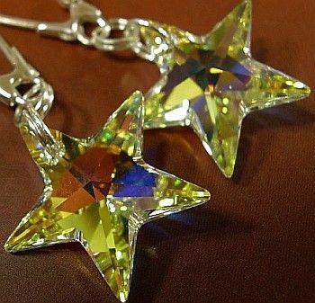 SWAROVSKI piękne kolczyki SREBRO Aurora Gwiazda