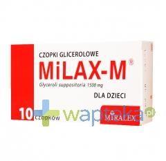 MiLAX-M Czopki glicerolowe dla dzieci 10 sztuk