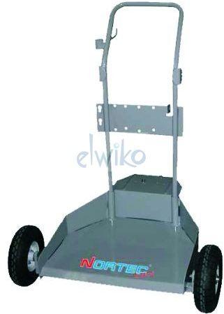 10475J - wózek pod beczkę 200kg (max fi 600mm), na kołach pneumatycznych z półką
