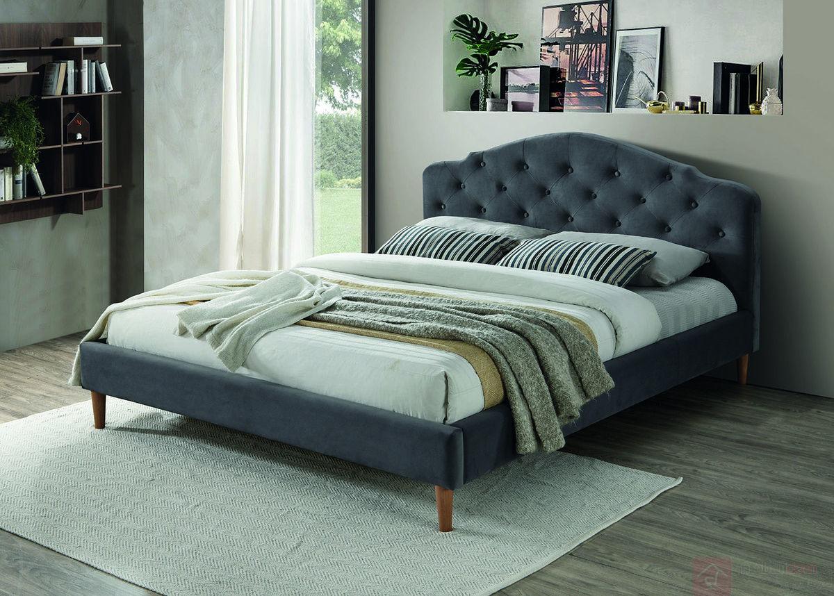 Łóżko CHLOE VELVET Signal 160x200 cm, Szary