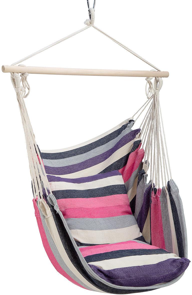 Krzesło brazylijskie - hamak Nils Camp NC3107 - różowe (15-03-084)