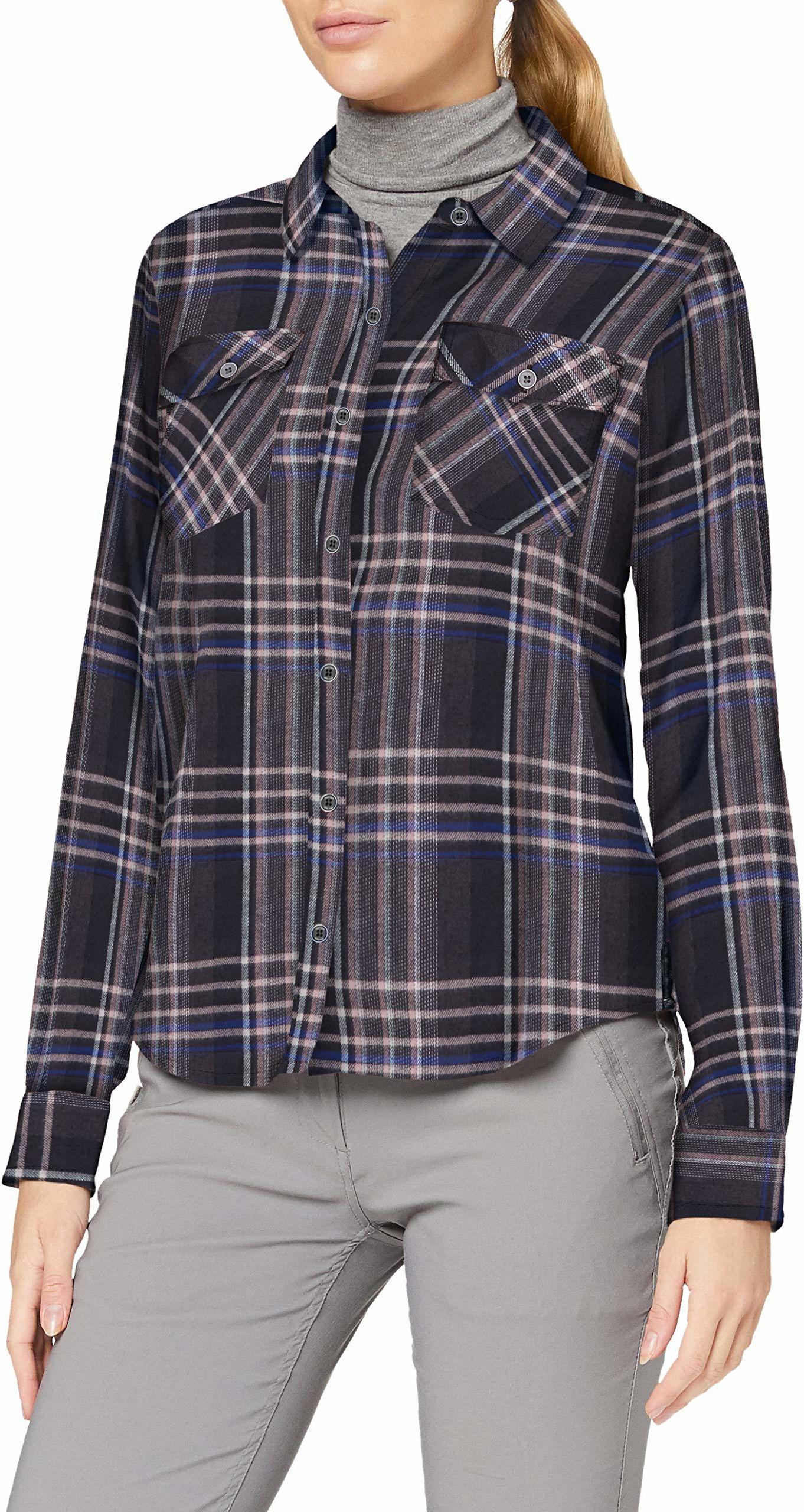 Marmot Damska koszulka Bridget Midwt flanelowa z długim rękawem, czarna, L