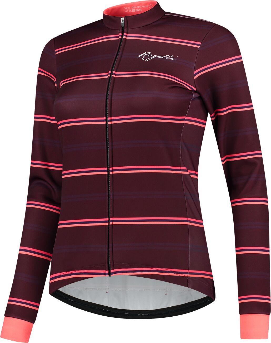 ROGELLI zimowa kurtka rowerowa damska STRIPE bordeaux/coral ROG351089 Rozmiar: M,ROG351089.XS