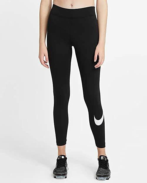 Nike Spodnie damskie Essential Gx Mr Swoosh czarny/(biały). XS