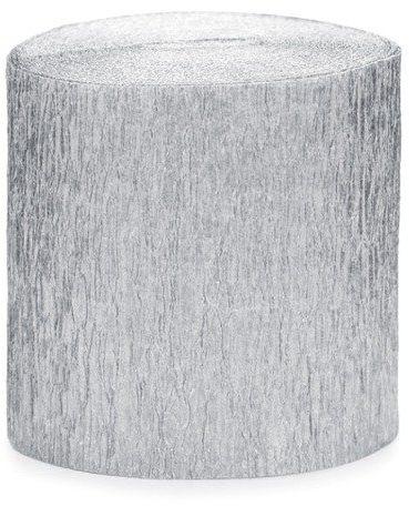 Krepa dekoracyjna srebrny 5cm 10m 4 szt. KREP1-018