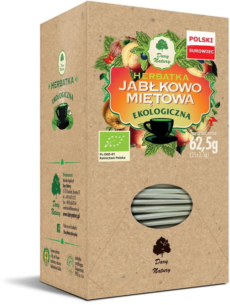 Herbatka Jabłkowo-Miętowa BIO 50g - Dary Natury