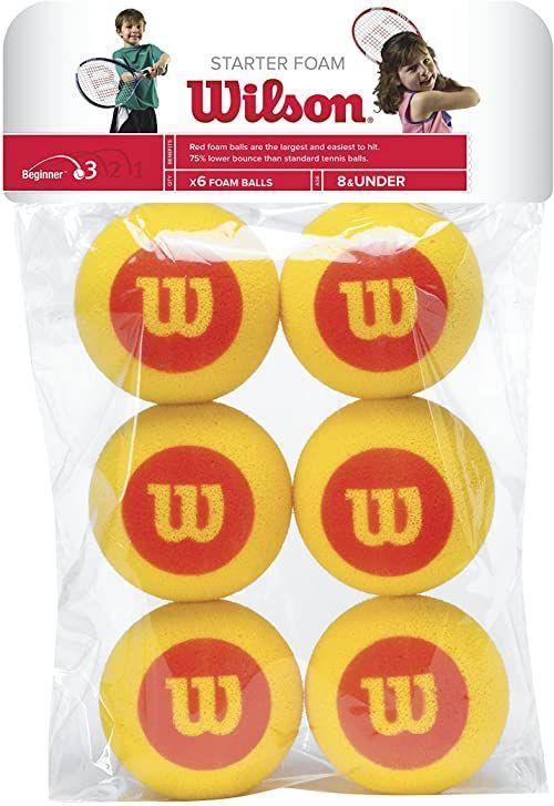 Wilson Piłki tenisowe dla dzieci, żółte/czerwone, WRZ259300