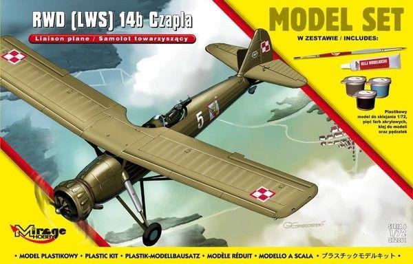 """RWD LWS 14b """"CZAPLA"""" Polski Samolot Towarzyszący"""