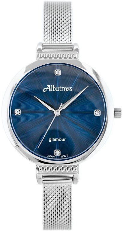ZEGAREK DAMSKI ALBATROSS ABBC22 (za544d) silver / navy blue