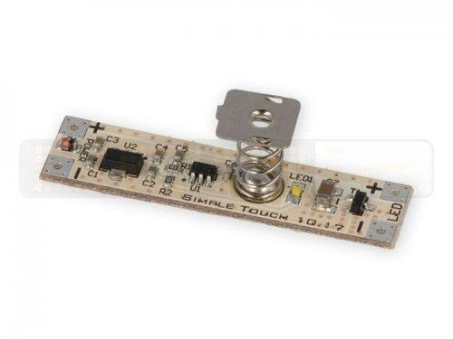 Włącznik SIMPLE TOUCH ON/OFF dotykowy LED 12V DC 5A 60W do taśm umieszczonych w profilach aluminiowych