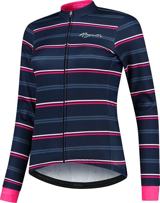 ROGELLI zimowa kurtka rowerowa damska STRIPE blue/pink ROG351088 Rozmiar: XS,ROG351088.XS