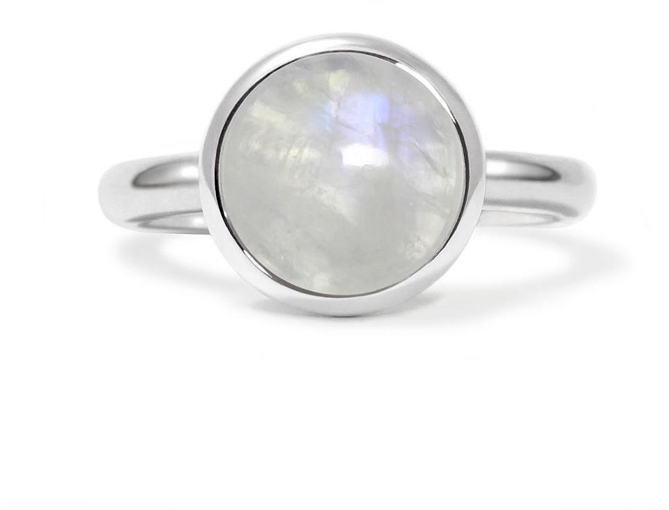 Kuźnia Srebra - Pierścionek srebrny, Kamień Księżycowy, 5g, model