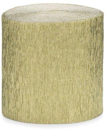 Krepa dekoracyjna złoty 5cm 10m 4 szt. KREP1-019