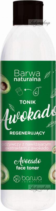 BARWA - BARWA NATURALNA - Regenerujący tonik odżywczy z nawilżającym ekstraktem z awokado do twarzy - Awokado - 300 ml