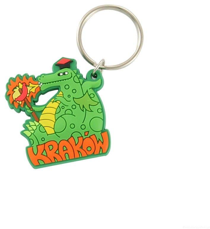 Brelok gumowy Kraków - smok z kiełbaską