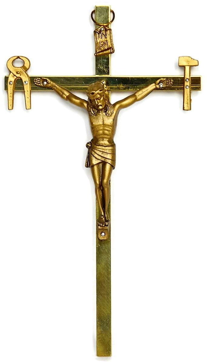 Krzyż saletyński 21 cm metalowy