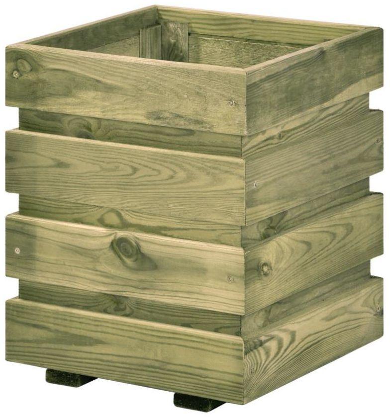 Donica ogrodowa FIX 30 x 30 x 37 cm drewniana SOBEX
