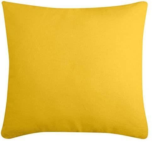 Lovely Casa Duo poduszka, bawełna, musztarda/taupe, 50 x 50 cm