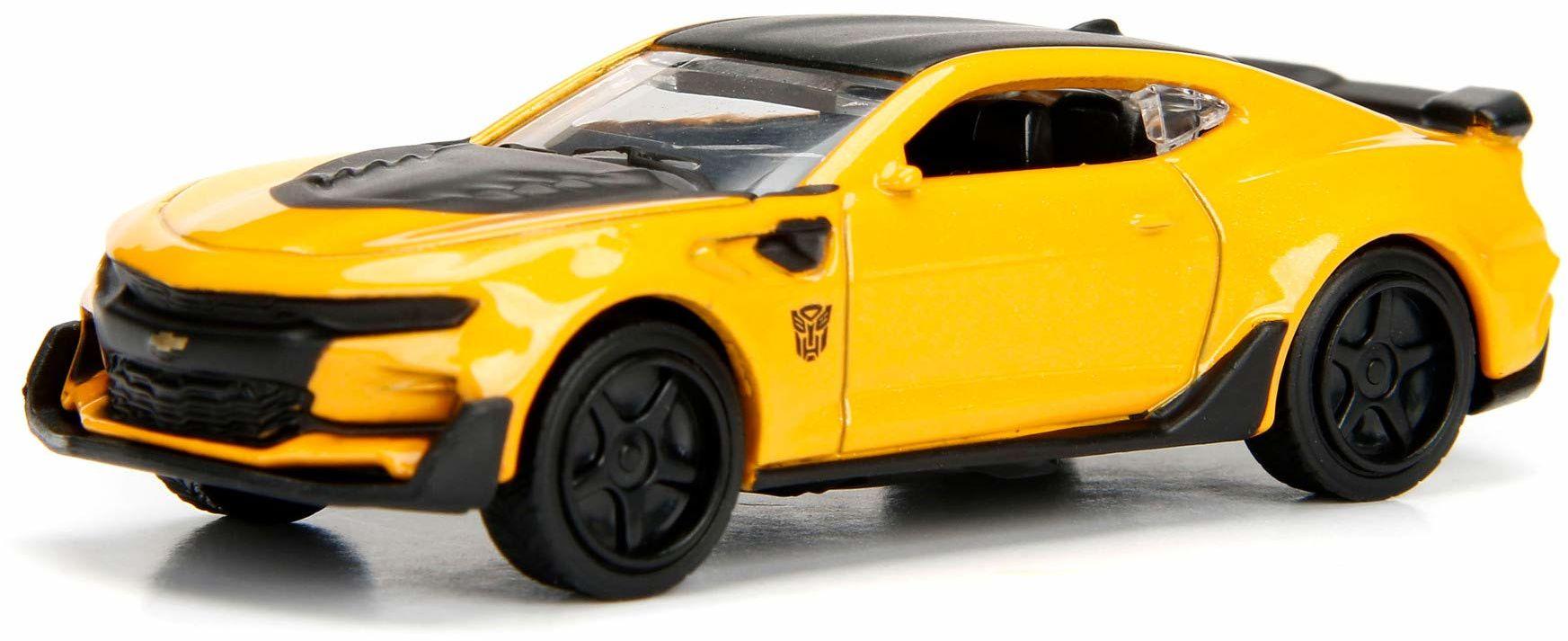 Jada Toys 253112000 Transformers samochód zabawkowy, Bumblebee lub Optimus Prime, 2 różne wersje losowe, dostawa: 1 sztuka, od 3 lat