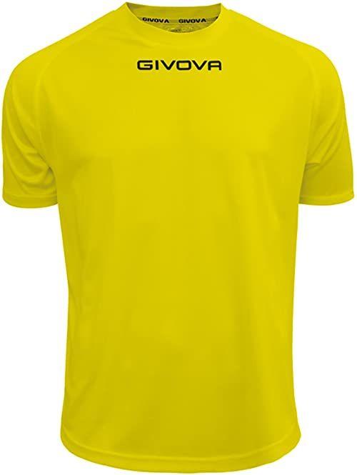 Givova - MAC01 koszulka sportowa, żółta, 3XL