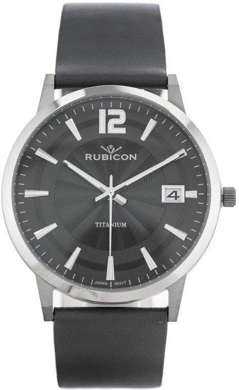 ZEGAREK MĘSKI RUBICON RNCE21 - TYTANOWY (zr103c)