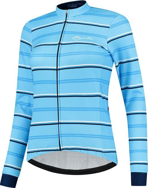 ROGELLI zimowa kurtka rowerowa damska STRIPE blue ROG351087 Rozmiar: L,ROG351087.XS