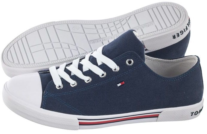 Trampki Tommy Hilfiger Low Cut Lace-Up Sneaker T3X4-30692-0890 800 Blue (TH79-b)