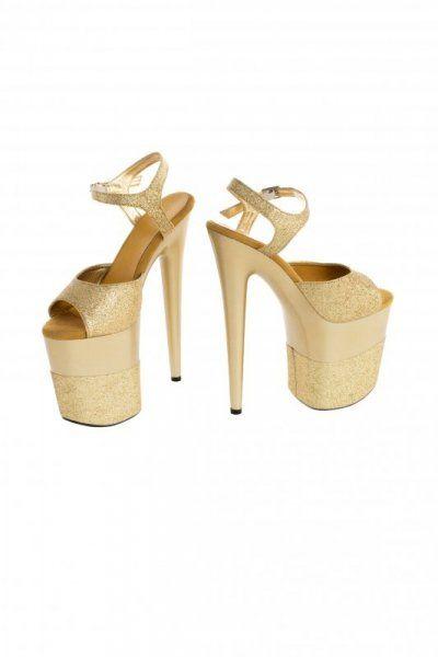 Buty- platformy złote błyszczące 40