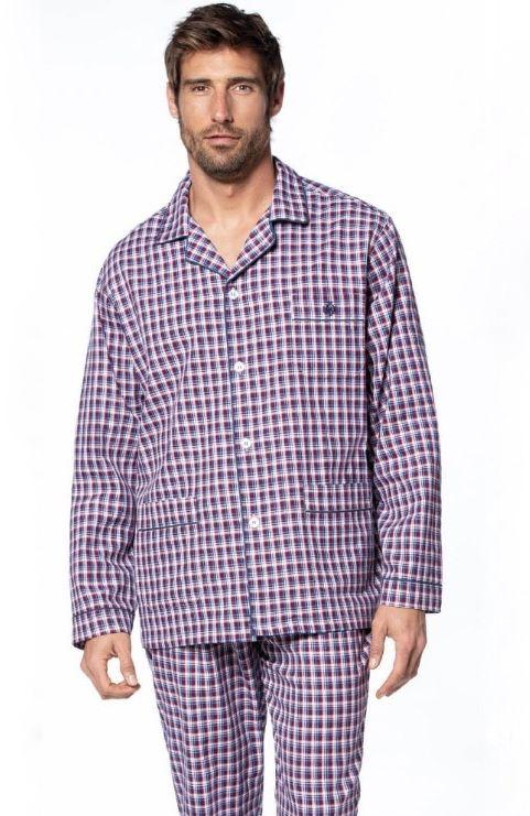 Piżama męska ISAAC Bordowy