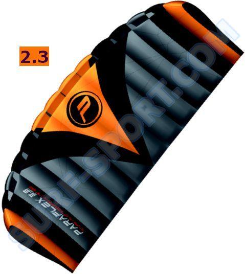 Latawiec Treningowy Z Barem -Wolkenstürmer Paraflex Trainer-R2F 2.3-2020 Orange/Gray