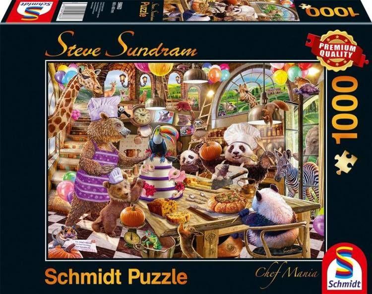 Puzzle PQ 1000 Zwierzaki w kuchni (Chef Mania) G3 - Schmidt
