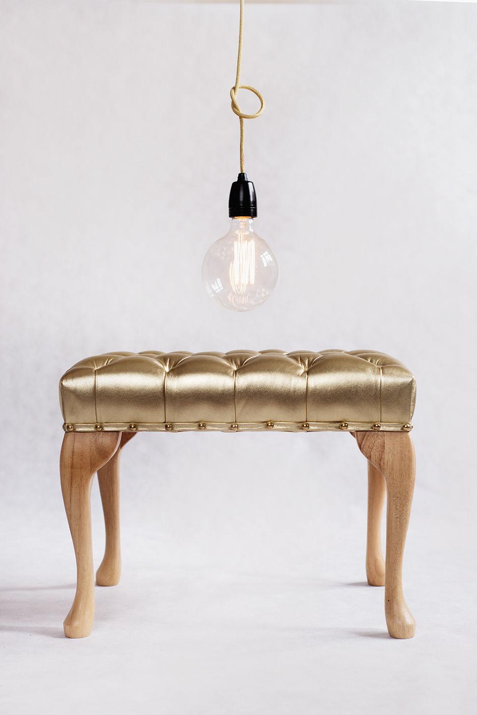 Lampa NUD Classic Złota Ceramiczna