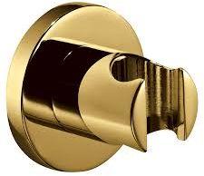 Uchwyt punktowy 6cm mosiężny, okrągły złoty
