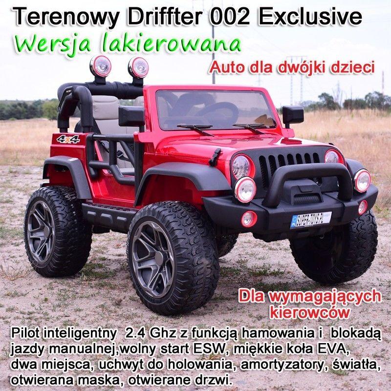 MEGA JEEP PERFECT 002 EXCLUSIVE 4x4 , WOLNY START/ MIĘKKIE KOŁA, LAKIEROWANY HP-002