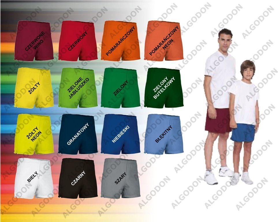 Spodenki krótkie dziecięce i dorosłe S-3XL termoaktywne różne kolory COLLEGE VALENTO