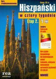 Hiszpański w cztery tygodnie Etap 2 z płytą CD ZAKŁADKA DO KSIĄŻEK GRATIS DO KAŻDEGO ZAMÓWIENIA