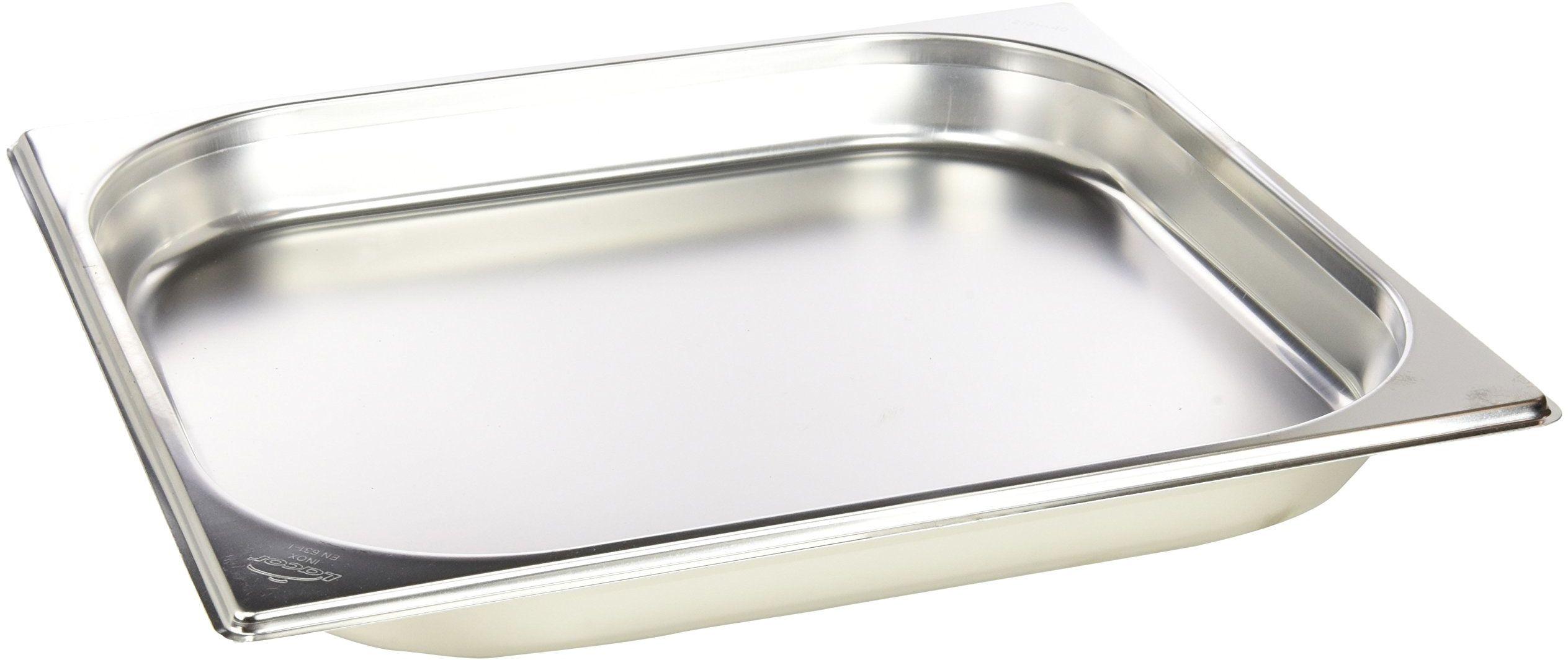 Lacor INOX 2/3 pojemnik bez uchwytu, stal nierdzewna, srebrny, 325 x 354 x 40 mm