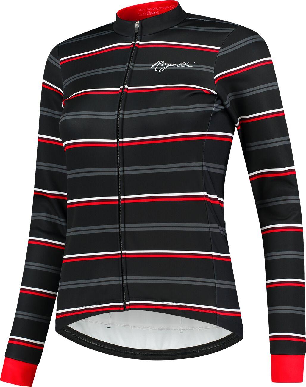 ROGELLI zimowa kurtka rowerowa damska STRIPE black/red ROG351086 Rozmiar: S,ROG351086.XS