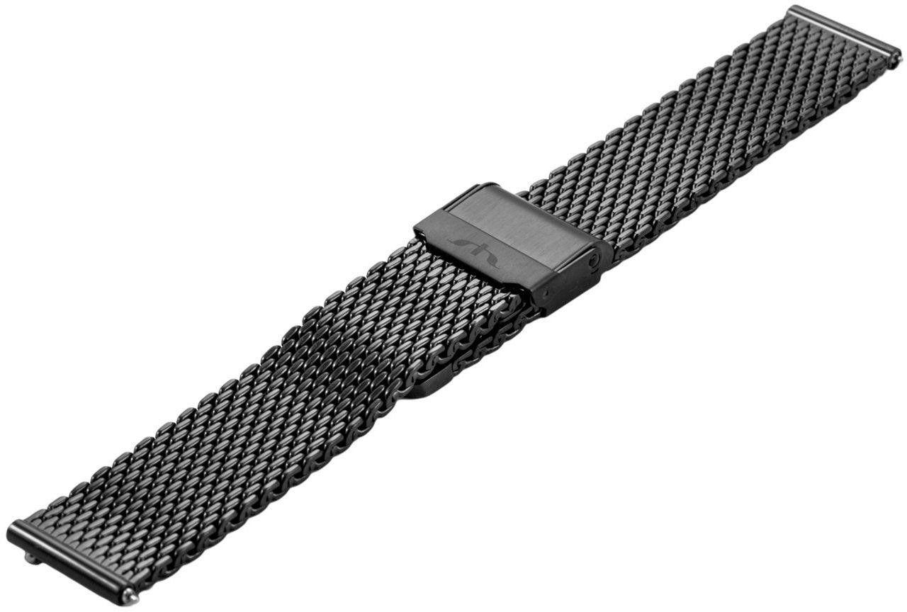 Bransoleta stalowa do zegarka 18 mm Bisset BM-102/18 Black