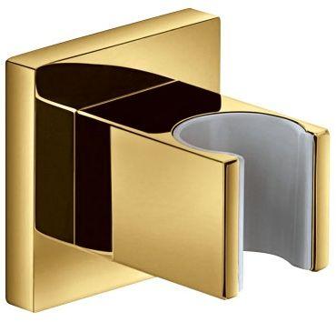 Uchwyt punktowy 5x5cm mosiężny,złoty