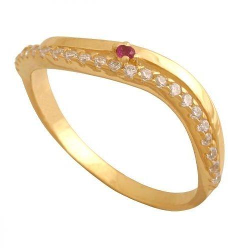 Złoty pierścionek tradycyjny Pn599