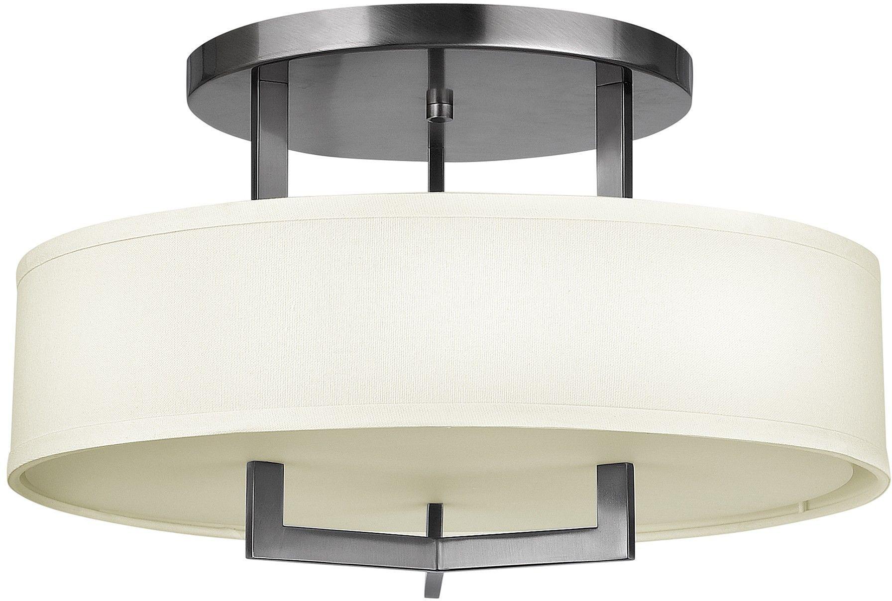 Hampton lampa sufitowa srebrna HK-HAMPTON-SF - Hinkley // Rabaty w koszyku i darmowa dostawa od 299zł !